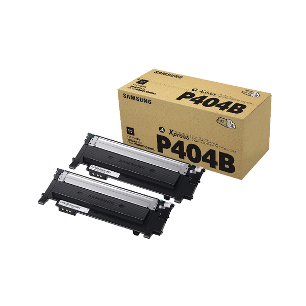 Samsung CLT-P404B Black Standard Yield Toner Cartridges (Pack of 2) SU364A