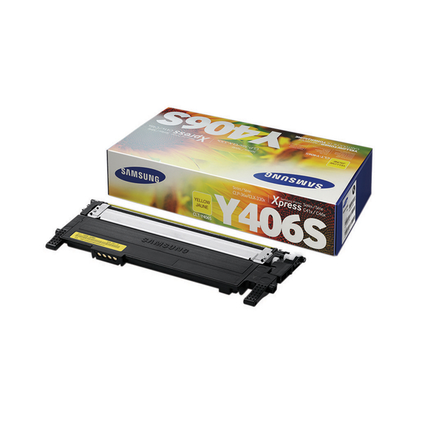 Samsung CLT-Y406S Yellow Standard Yield Toner Cartridge SU462A