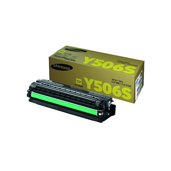 Samsung CLT-Y506S Yellow Standard Yield Toner Cartridge SU524A