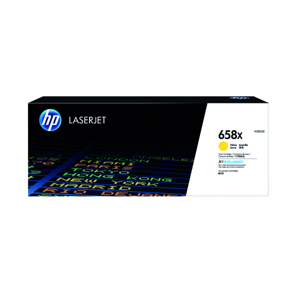 HP 658X LaserJet Toner Cartridge Yellow W2002X