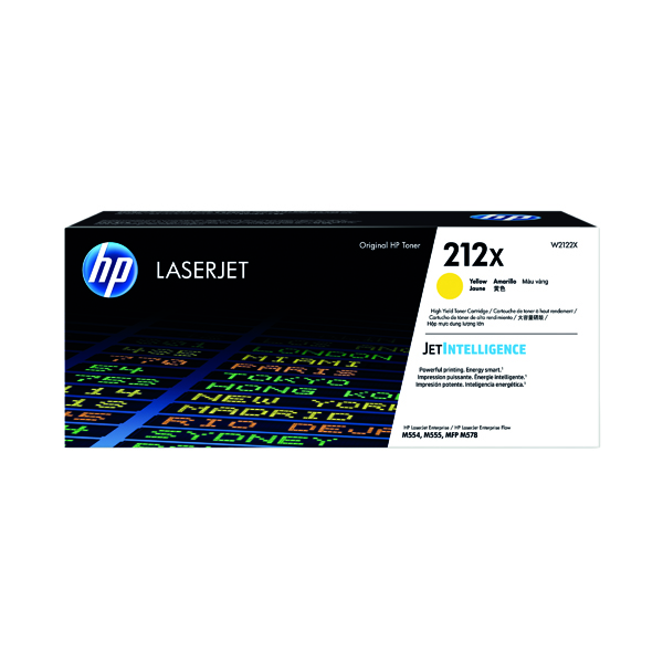HP 212X Yellow High Yield Laserjet Toner Cartridge W2122X
