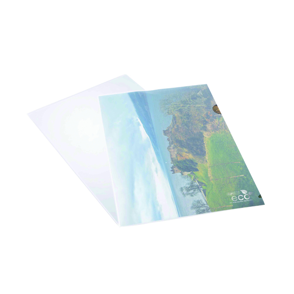 Rapesco Eco Cut Flush Folders A4 Clear (Pack of 100) 1105