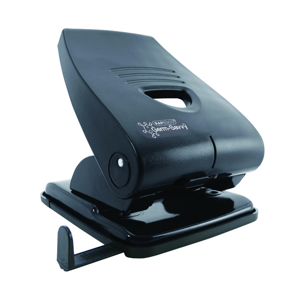 Rapesco 835-P Heavy Duty Two-Hole Punch Black PF835PB2