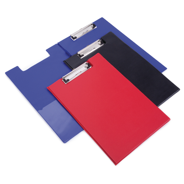 Image for Rapesco Foldover Clipboard with Interior Pocket Foolscap Red VFDCB0R3