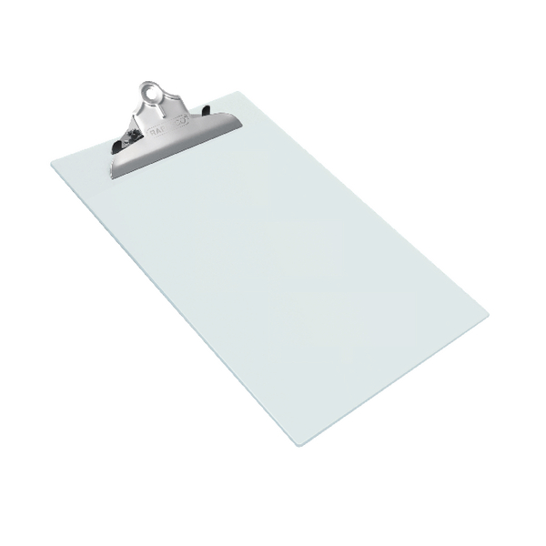 Rapesco Heavy Duty Clipboard Frosted Foolscap Transparant 0888