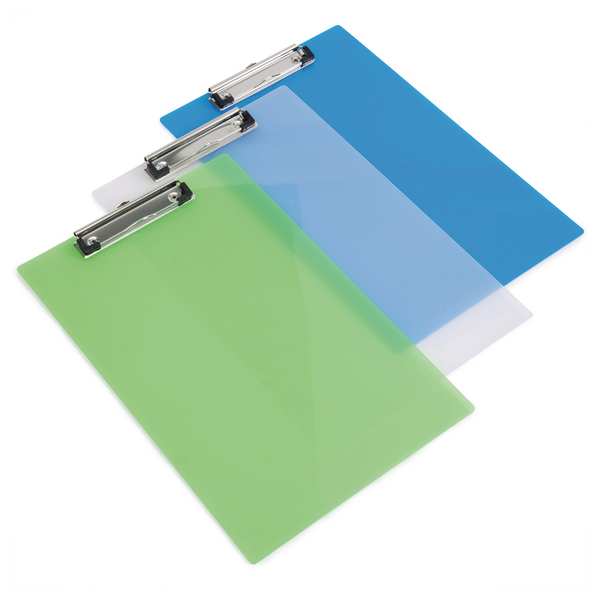 Rapesco Clipboard Frosted Transparent Assorted (Pack of 10) SHP PCBAS