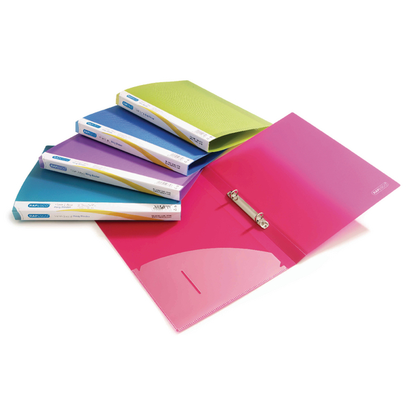 Rapesco 25mm Two-Ring Binder A4 Assorted (Pack of 10) 0716