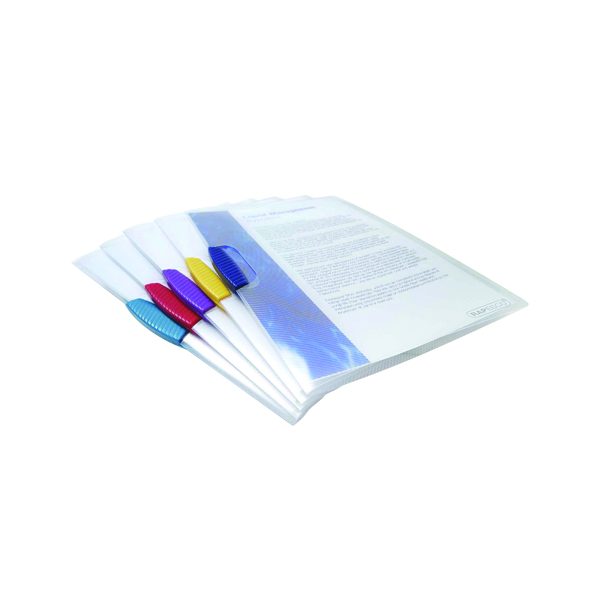 Rapesco Pivot Clip Files A4 Assorted (Pack of 5) 0786