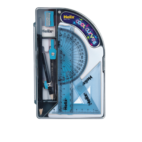 Helix Cool Curves Maths Set (Pack of 8)
