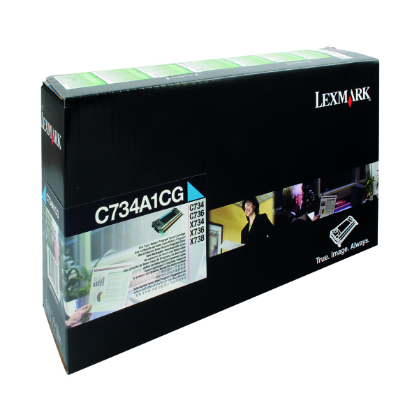 Lexmark Cyan Return Program Toner Cartridge C734A1CG