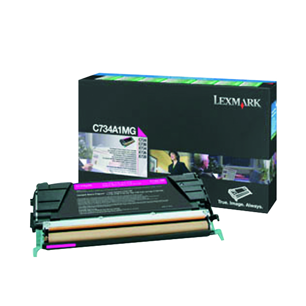 Lexmark Magenta Return Program Toner Cartridge C734A1MG