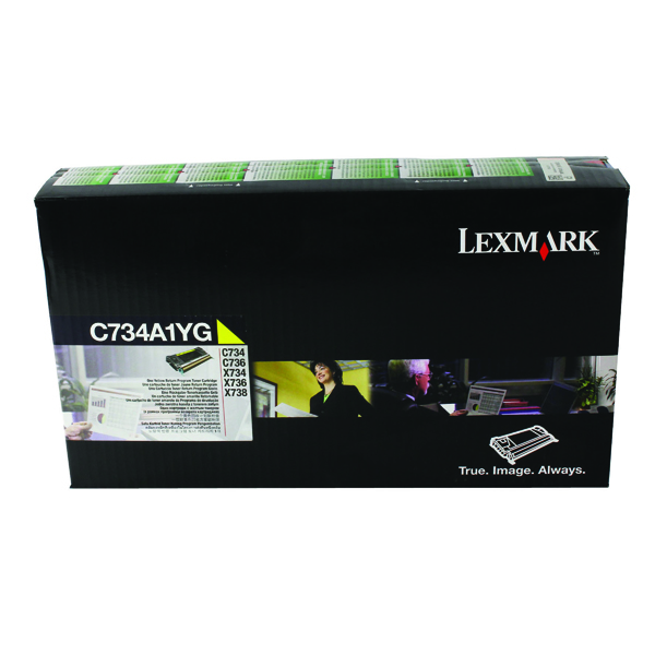 Lexmark Yellow Return Program Toner Cartridge C734A1YG