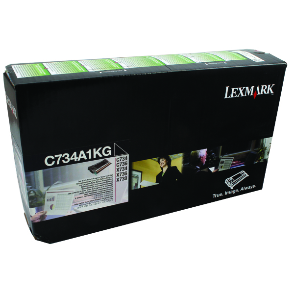 Lexmark C734DN Black Return Programme Toner Cartridge C734A1KG