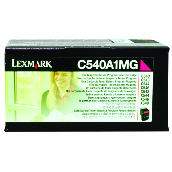 Lexmark C540 Magenta Return Program Toner Cartridge 0C540A1MG