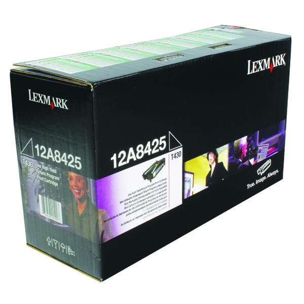 Lexmark Black High Yield Return Program Print Toner 0012A8425