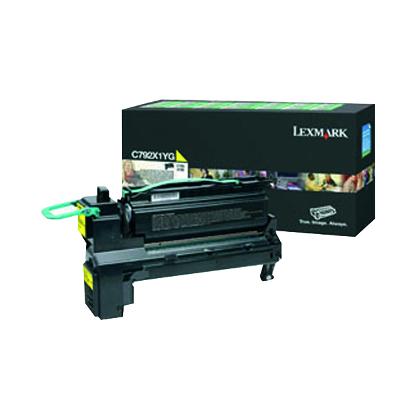 Lexmark C792 Yellow Extra High Yield Toner Cartridge C792X1YG