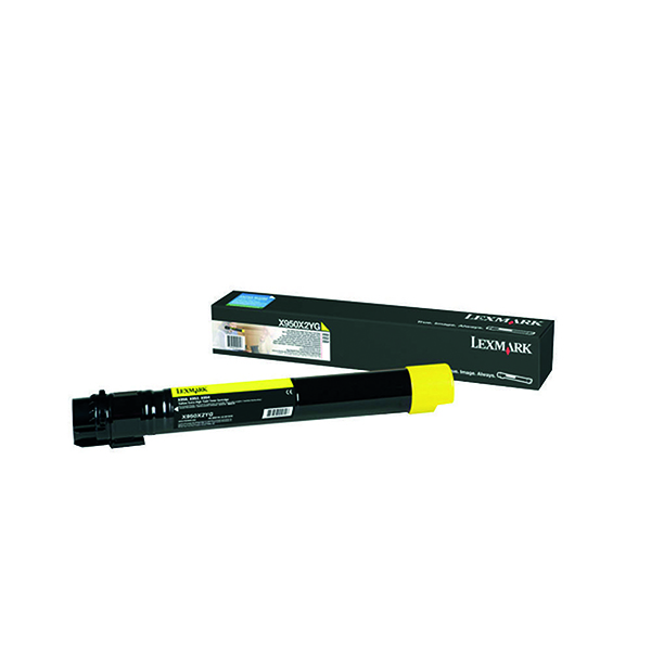 Lexmark X950 Yellow Extra High Yield Toner Cartridge X950X2YG