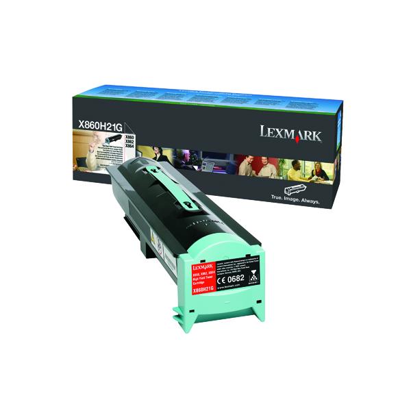 Lexmark X860 Black High Yield Toner Cartridge X860H21G