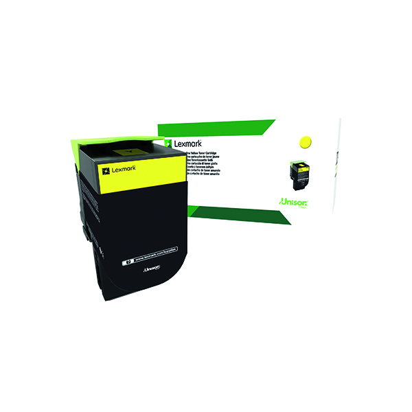 Lexmark 702HY Yellow High Yield Toner Cartridge 70C2HY0