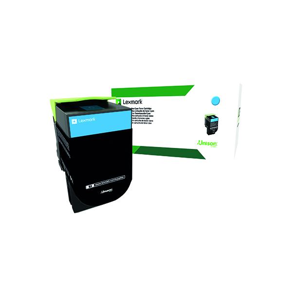 Lexmark 702XC Cyan Extra High Yield Toner Cartridge 70C2XC0