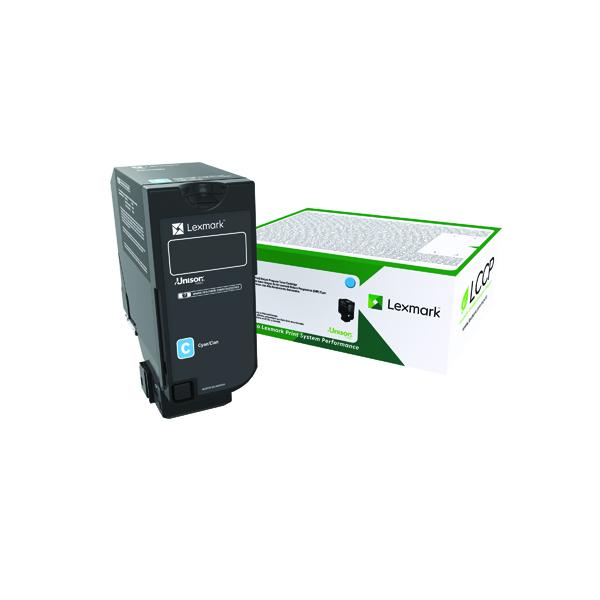 Lexmark CS720/S725/CX725 Cyan Return Programme Toner Cartridge 74C20C0