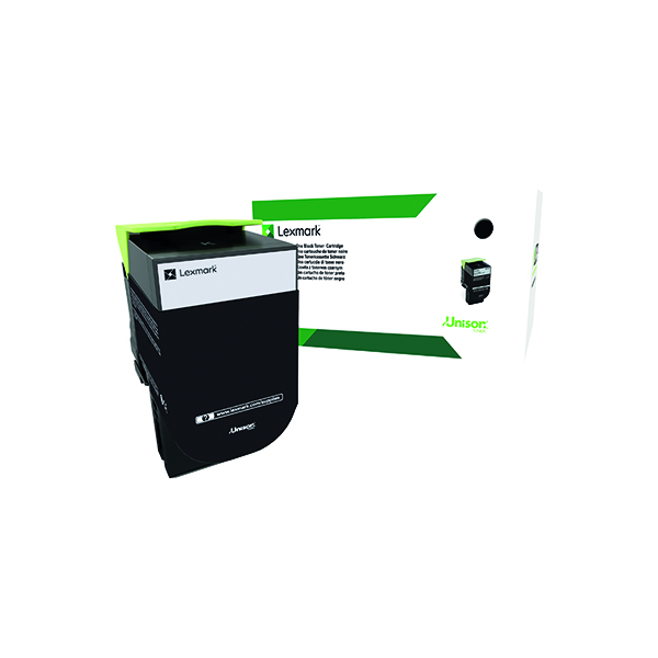 Lexmark 802K Black Toner Cartridge 80C20K0