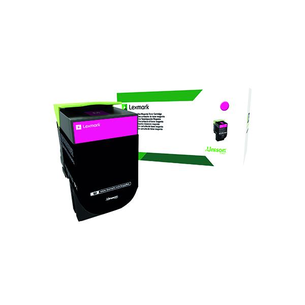 Lexmark 802HM Magenta High Yield Toner Cartridge 80C2HM0
