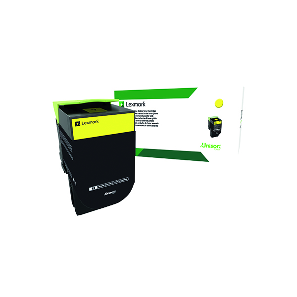 Lexmark 802SY Yellow Toner Cartridge 80C2SY0