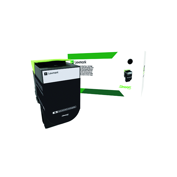 Lexmark 802XK Black Extra High Yield Toner Cartridge 80C2XK0