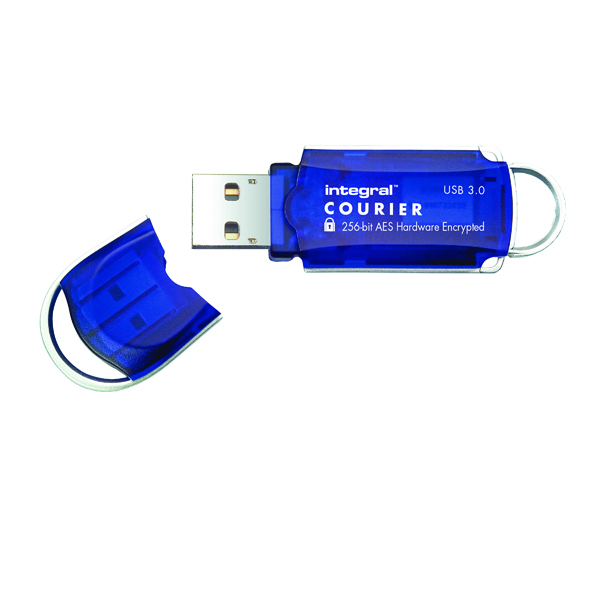 Integral Courier Encrypted USB 3.0 64GB Flash Drive INFD64GCOU3.0-197