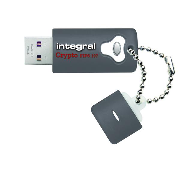 Integral Crypto Encrypted USB 3.0 16GB Flash Drive INFD16GCRY3.0197