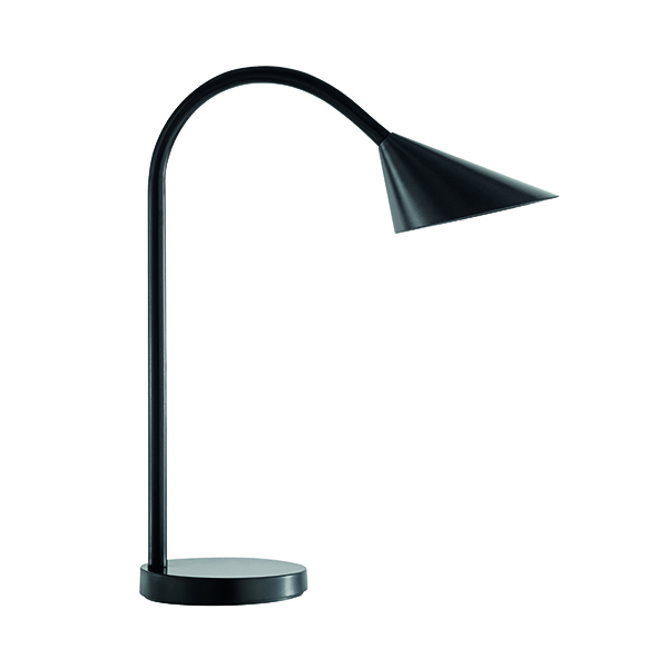 Unilux Sol Flexible LED Desk Lamp 4 Watt Black 400086979