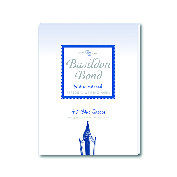 Basildon Bond Writing Pad 137 x 178mm Blue (Pack of 10) 100100123