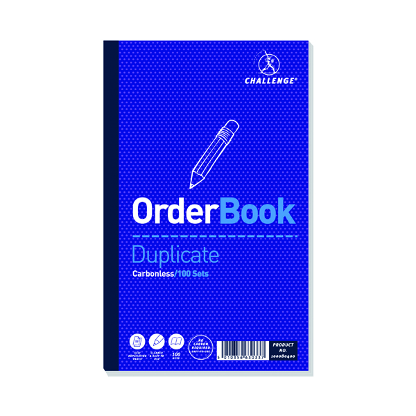 Image for Challenge Carbonless Duplicate Order Book 100 Sets 210x130mm (Pack of 5) 100080400