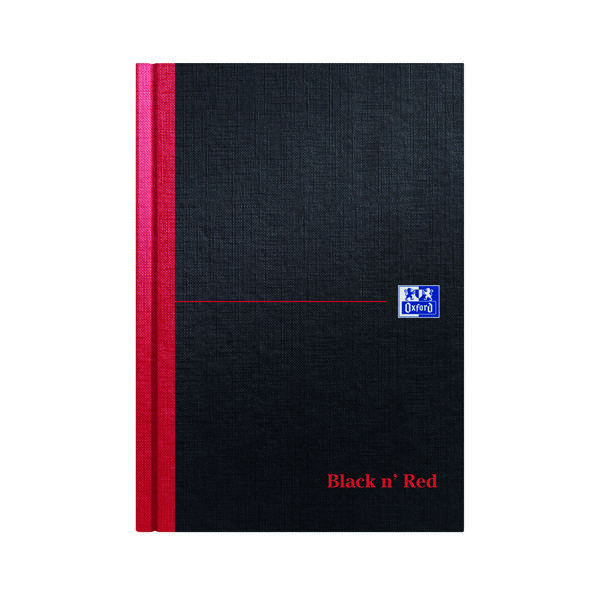 Image for Black n Red A5 Casebound Hardback Single Cash Book (Pack of 5) 100080414