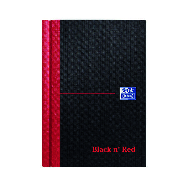 Black n' Red Casebound Hardback Notebook 192 Pages A6 (Pack of 5) 100080429