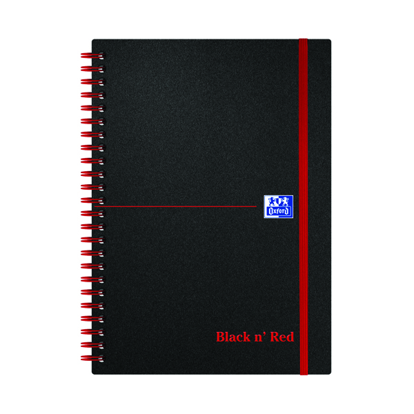 Black n' Red Ruled Polypropylene Wirebound Notebook 140 Pages A5 (Pack of 5) 846350109