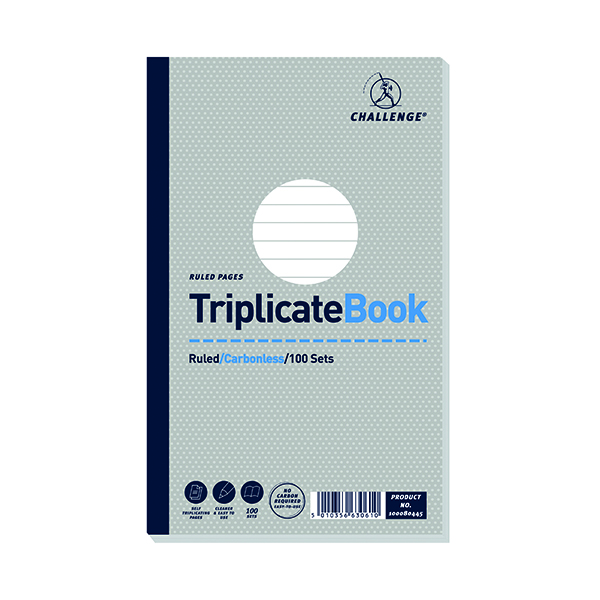 Image for Challenge Carbonless Triplicate Book 100 Sets 210x130mm (Pack of 5) 100080445