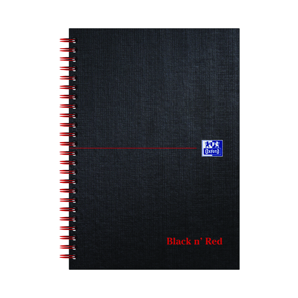 Black n' Red Ruled Wirebound Hardback Notebook 140 Pages A5 (Pack of 5) 846354906