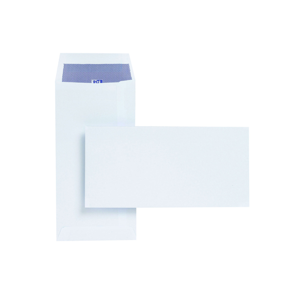 Plus Fabric DL Envelopes Pocket Self Seal 110gsm White (Pack of 500) E25770