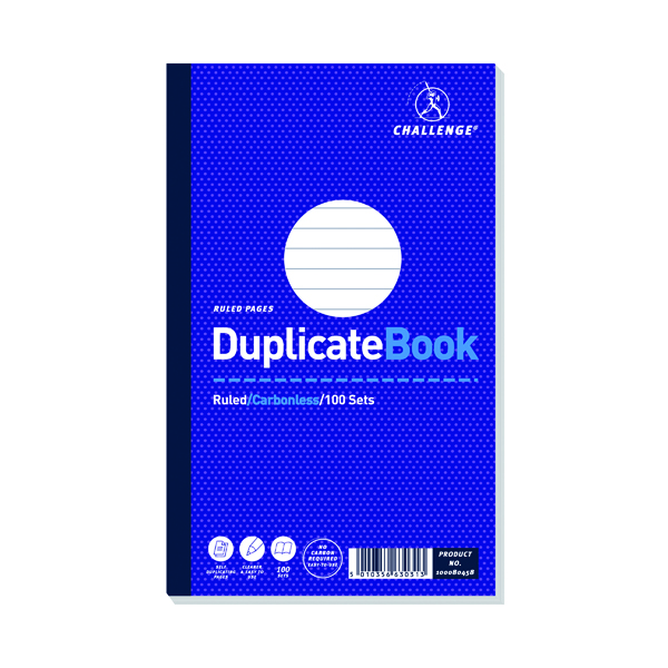 Image for Challenge Carbonless Duplicate Book 100 Sets 210x130mm (Pack of 5) 100080458