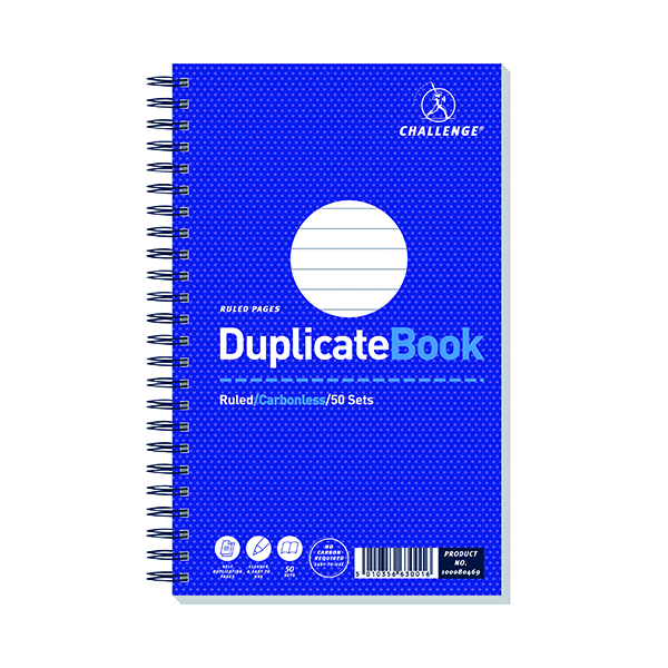 Image for Challenge Carbonless Wirebound Duplicate Book 50 Sets 210x130mm (Pack of 5) 100080469