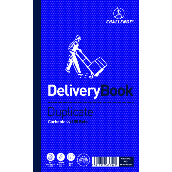 Image for Challenge Carbonless Duplicate Delivery Book 100 Sets 210x130mm (Pack of 5) 100080470