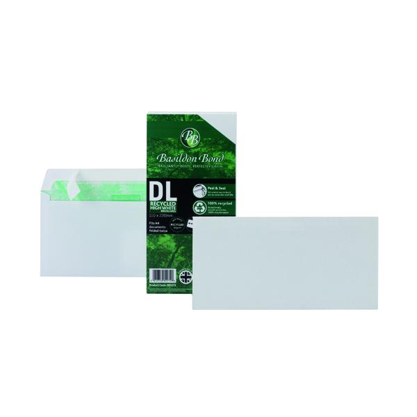 Basildon Bond DL Wallet Envelope Plain White (Pack of 100) F80275