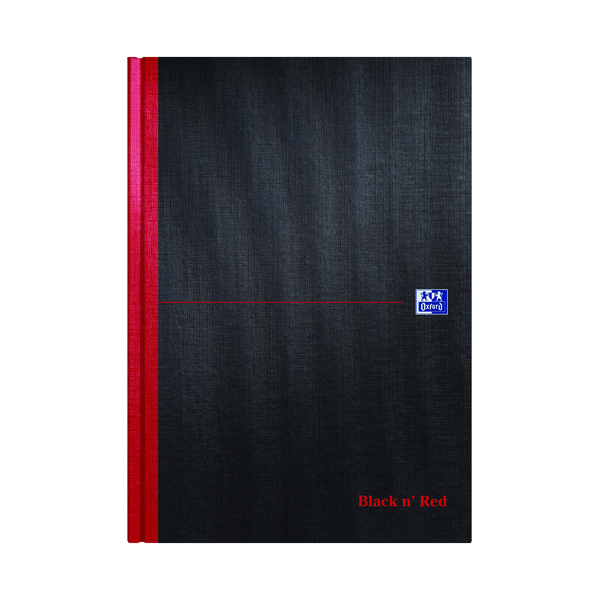 Black n' Red Plain Casebound Hardback Notebook A4 (Pack of 5) 100080489