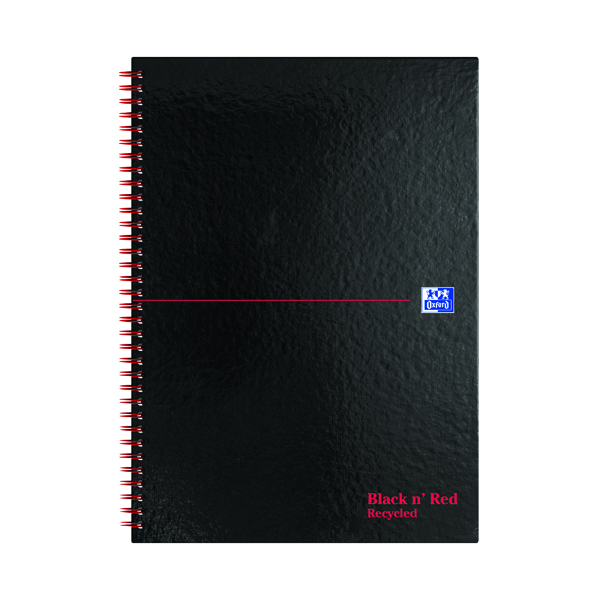 Black n' Red Recycled Ruled Wirebound Hardback Notebook A4 (Pack of 5) 846350972