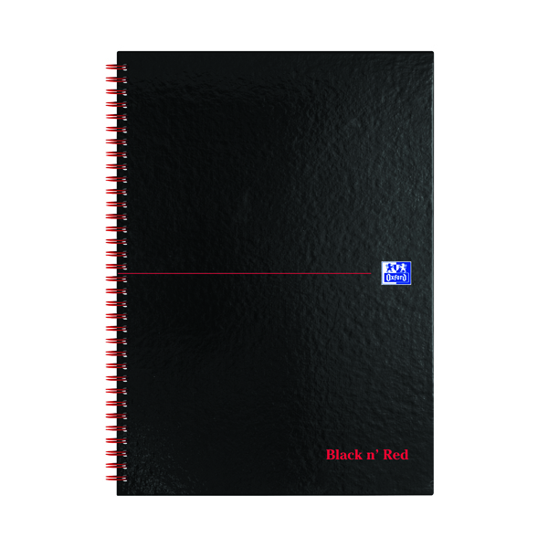 Black n' Red 5mm Square Wirebound Hardback Notebook A4 (Pack of 5) 846350102