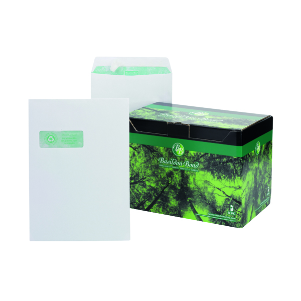 Basildon Bond C4 Pocket Envelope Window White (Pack of 250) K80121