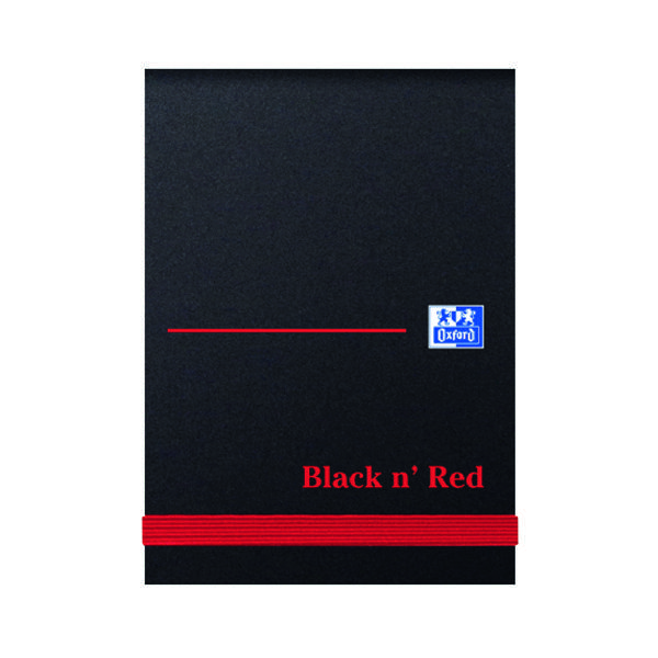 Image for Black n' Red Plain Elasticated Casebound Notebook 192 Pages A7 (Pack of 10) 100080540