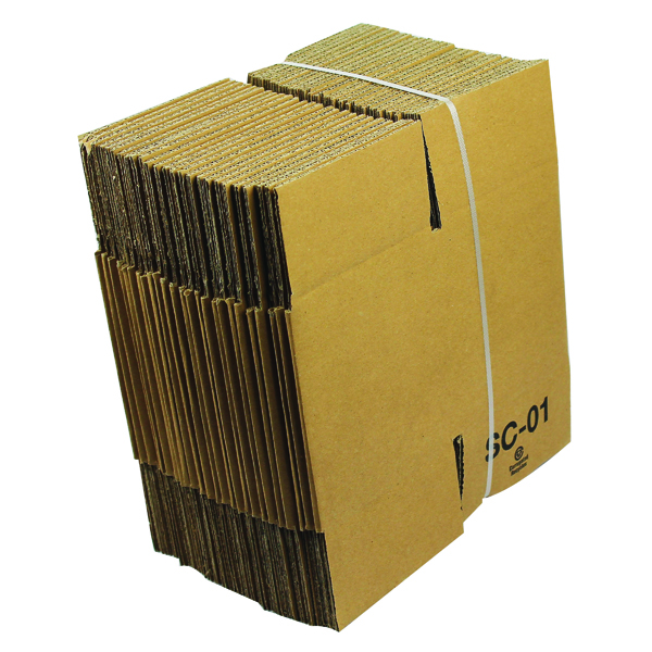 Single Wall Corrugated Dispatch Cartons 127x127x127mm Brown (Pack of 25) SC-01